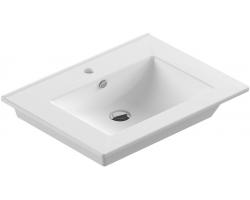 Раковина Sanita Luxe Quadro 75 QDR75SLWB01 75 см. (белая, накладная)