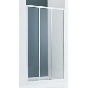 Дверь для душа SSWW LA61-Y32 L 80х195 (левая, прозрачное стекло, профиль серебристый глянец)