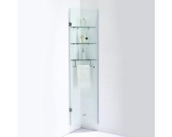 Шкаф подвесной угловой SSWW Z023A 340х382 (прозрачное стекло, профиль серебристый глянец)