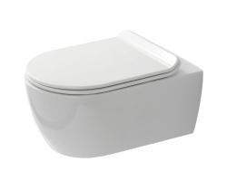 Унитаз подвесной SSWW NC 4455 (белый, безободковый, микролифт)