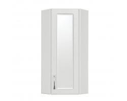 Шкаф угловой подвесной Style Line Эко Стандарт 30 ЛС-00000134 30 см. (белый, зеркальная вставка)
