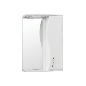 Зеркало-шкаф Style Line Эко Волна Панда-550/С Волна ЛС-00000173 55 см. (белое)