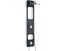 Душевая панель с гидромассажем и термостатом Valentin I-Deco Lux 506300 000 74 (черная)