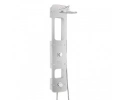 Душевая панель с гидромассажем и термостатом Valentin I-Deco Lux 506300 408 74 (белая)