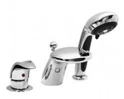 Смеситель для ванны на 3 отверстия Vega Cobra Lux 91А1705025 (хром глянец, врезной на борт ванны)