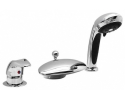 Смеситель для ванны на 3 отверстия Vega Niagara Lux 91А1605125 (хром глянец, врезной на борт ванны)