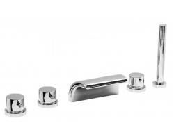 Смеситель для ванны на 5 отверстия Vega Onda Lux 91А0505025