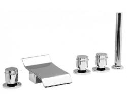 Смеситель для ванны на 5 отверстия Vega Piccolo Lux 91А0155022