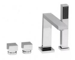 Смеситель для ванны на 4 отверстия Vega Quadro Lux 91А0305025