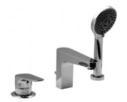 Смеситель для ванны на 3 отверстия Vega Theos 91A1615122 (хром глянец, врезной на борт ванны)