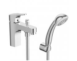 Смеситель для ванны Vidima Next BA402AA (хром глянец, врезной на борт ванны, 1 отверстие, с душевым комплектом)