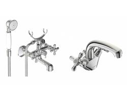 Комплект смесителей для ванной комнаты Vidima Retro BA428AA (хром глянец)