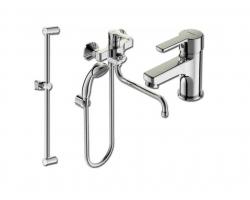 Комплект смесителей для ванной комнаты Vidima Uno BA379AA (хром глянец)