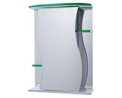 Зеркало-шкаф Vigo Alessandro 55 см. 3-550 (№11-550, зелёное)