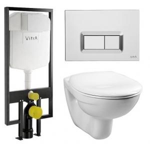 Комплект унитаза с инсталляцией Vitra Normus 9773B003-7200 (сиденье микролифт, клавиша хром)