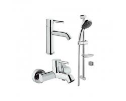 Комплект смесителей для ванной комнаты Vitra Minimax S A49153EXP (хром глянец)