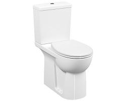 Унитаз напольный Vitra S.Needs Conforma 5816B003-0087+5422B003-5450+115-003-006 (белый, горизонтальный, дюропласт, для людей с ограниченными возможностями)