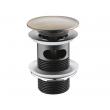 Донный клапан WasserKraft Push-up A046 (светлая бронза, click-clack)