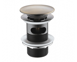 Донный клапан Wasser Kraft Push-up А046 (светлая бронза, click-clack)