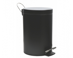 Ведро для мусора WasserKraft Aller 5L К-635BLACK (чёрное)