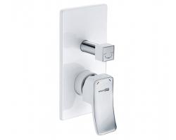 Смеситель для ванной со встроенной системой монтажа Wasser Kraft Aller 10641WHITE (белый, хром глянец)