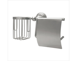 Держатель туалетной бумаги и освежителя Wasser Kraft Ammer К-7059 (матовый хром)