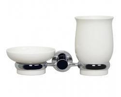 Держатель стакана и мыльницы WasserKraft K-24226 (хром глянец)