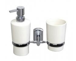 Держатель стакана и дозатора WasserKraft K-28189 (хром глянец)