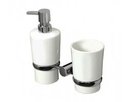 Держатель стакана и дозатора WasserKraft K-28289 (хром глянец)