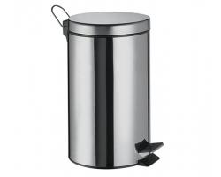 Ведро для мусора WasserKraft 12L К-612 (хром глянец)