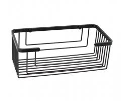 Полка металлическая прямая Wasser Kraft Black K-711 (чёрный, Soft-touch)