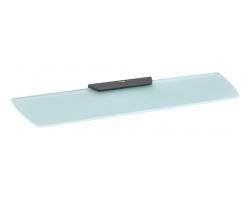 Полка стеклянная Wasser Kraft Elbe K-7224 (чёрный, PVD покрытие)