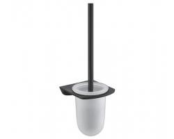 Щетка для унитаза Wasser Kraft Elbe K-7227 (чёрный, PVD покрытие)