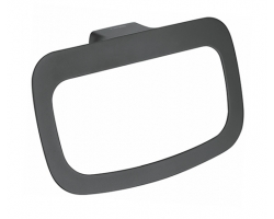Держатель полотенец кольцо Wasser Kraft Elbe K-7260 (чёрный, PVD покрытие)