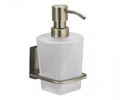 Дозатор для жидкого мыла стеклянный Wasser Kraft Exter К-5299 (светлая бронза)