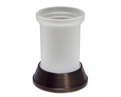 Подстаканник стеклянный WasserKraft Isar K-2328 (тёмная бронза)