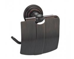 Держатель туалетной бумаги с крышкой Wasser Kraft Isar K-7325 (темная бронза)