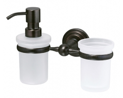 Держатель стакана и дозатора Wasser Kraft Isar К-7389 (темная бронза)