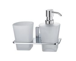 Держатель дозатора и стакана Wasser Kraft Leine К-5089
