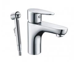 Смеситель для раковины с гигиенической душем WasserKraft Leine 3508 (хром глянец)