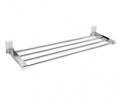 Полка для полотенец WasserKraft Leine K-5011WHITE (белый, хром глянец)