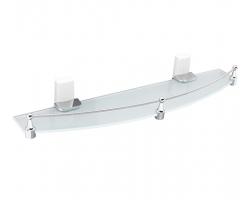 Полка стеклянная Wasser Kraft Leine White К-5024 (белый, хром глянец)