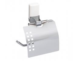 Держатель туалетной бумаги Wasser Kraft Leine K-5025WHITE (белый, хром глянец)