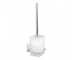 Щетка для унитаза подвесная Wasser Kraft Leine White К-5027 (белый, хром глянец)