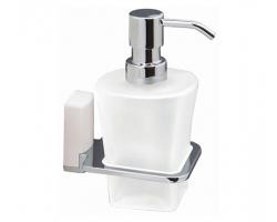 Дозатор для жидкого мыла Wasser Kraft Leine K-5099WHITE (белый, хром глянец)