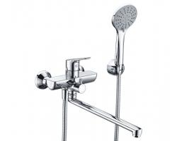 Смеситель для ванны WasserKraft Lippe 4502L (хром глянец, с душевым комплектом)