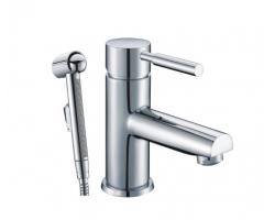 Смеситель для раковины с гигиенической душем WasserKraft Main 4108 (хром глянец)