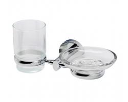 Держатель стакана и мыльницы WasserKraft Rhein К-6226 (хром глянец)