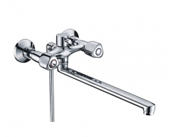 Смеситель для ванны WasserKraft Amper 2902L (хром глянец, с душевым комплектом)